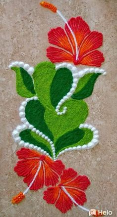 Easy and Latest Rangoli Designs for Diwali 2019 Easy Rangoli Designs Videos, Easy Rangoli Designs Diwali, Rangoli Simple, Rangoli Designs Latest, Simple Rangoli Designs Images, Rangoli Designs Flower, Free Hand Rangoli Design, Small Rangoli Design, Rangoli Patterns