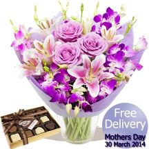Mothers Day Luxury Bouquet & Chocolates Gifts Delivered, Flowers Delivered, Chocolates, Floral Arrangements, Mothers, Bouquet, Luxury, Day, Handmade