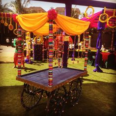 Trendy Wedding Indian Decoration Mehndi Events Ideas You are in the right place about wedding events styling Here we offer you the most beautiful pictures about the wedding events schedule you are loo Mehendi Decor Ideas, Mehndi Decor, Indian Decoration, Diy Decoration, Handmade Decorations, Indian Wedding Theme, Desi Wedding, Wedding Events, Weddings