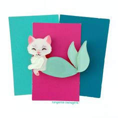 Purrmaid Vintage-Inspired Novelty Brooch by Tangerine Menagerie on Etsy
