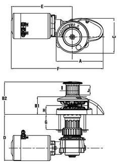 anchor winch drum winch 1000W stainless steel winch