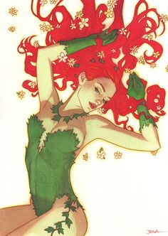 Harley Quinn and Poison Ivy Poison Ivy Cosplay, Dc Poison Ivy, Poison Ivy Dc Comics, Poison Ivy Comic, Poison Ivy Batman, Poison Ivy Cartoon, Poison Ivy Costumes, Marvel Dc Comics, Bd Comics