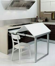 would this work at end of island? Picture of Space Saving Kitchen Island with Pu. - would this work at end of island? Picture of Space Saving Kitchen Island with Pull Out Table - ? Diy Kitchen, Kitchen Decor, Kitchen Small, Ranch Kitchen, Design Kitchen, Country Kitchen, Kitchen Ideas, Space Saving Kitchen, Kitchen Island Table