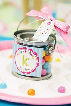 {Bright & Girly} Paint-Inspired Arts & Crafts Party Ideas