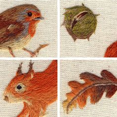 Cute Embroidery by Chloe Giordano // LOOK AT HOW CUTE THAT ROBIN IS