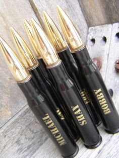 Engraved 50 Caliber Bottle Openers By Bottle Breacher. Great groomsmen gifts or Stocking Stuffers. 10 Fonts to choose from.