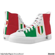 f35d93926d2 Italy Italia Flag High-Top Sneakers italian world cup 2018 Football Soccer  Football Soccer