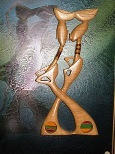Eddison Agbeko Tribal  Framed Wood Carving by TheIDconnection, $125.00