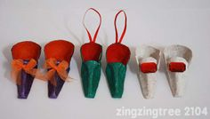 Fairy Tale Shoes made from papier mache egg boxes