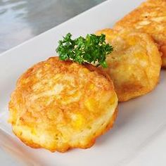Fresh Sweet Corn Fritters Allrecipes.com if using canned corn 1 1/2 cups.  I am also going to try using 2% milk that is what I have.