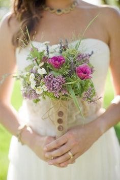 Wildflower bouquet a must with my sunflower country theme!!