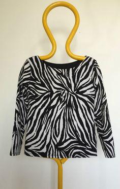 Dolce e Gabbana maglia sexy maglietta top manica lunga nero donna zebra I 42 F38