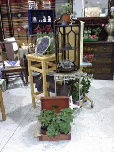 Center island in my booth at Scotts Antique Market in Atlanta