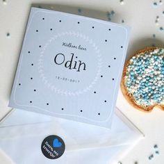 Odin is geboren! @silkebouwes bestelde het geboortekaartje bij ons en schreef er een hele leuke blog over. Mooi!