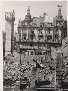 View of the Hotel Continental taken during the American occupation. Note the Red Cross sign on the roof. Red Cross, World War Two, Paris Skyline, Louvre, Germany, Continental, Europe, History, Building