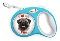 iLeesh i Love My Pug Fwan Retractable Turquoise Leash > Details can be found : Dog leash Small Dogs For Sale, Large Dogs, Dog Treadmill, Dog Stroller, Dog Shock Collar, Best Dog Training, Dog Leash, Best Dogs, Pugs