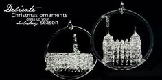 LDS glass temple ornaments