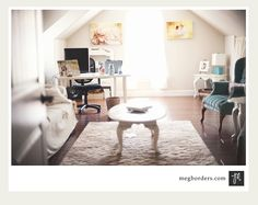 We all love a studio tour.especially a home studio! I think it's great to see the possibilities that are available when deciding t. Guest Room Office, Home Office, Attic Office, Photography Studio Spaces, Photography Business, Photography Studios, Dream Photography, Photographers Office, Dream Studio