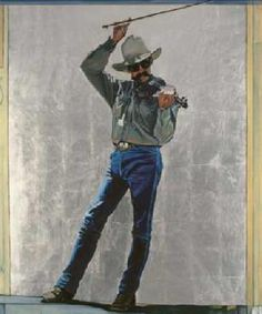 David DeVary Rodeo Fiddler Giclee on Canvas