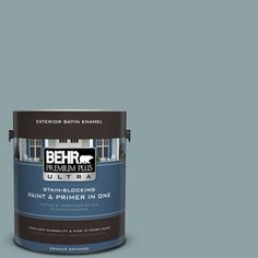 BEHR Premium Plus Ultra 1-gal. #N440-4 October Sky Satin Enamel Exterior Paint