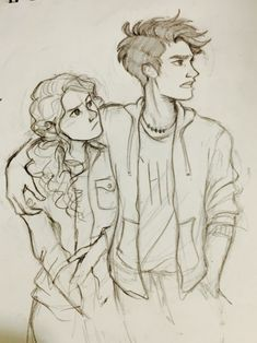 I'm in the midst of a terrible art block but I found a cute photo of Andrew Garfield and Emma Stone and so I had to draw it as percabeth….I had no choice