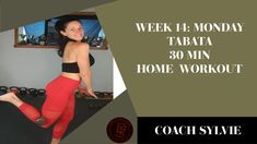 Week 14: MONDAY 30 min TABATA Total Body Home Workout. WITH INSTRUCTION 🍑💪 Health Challenge, 30 Day Challenge, Tabata, How To Slim Down, Total Body, At Home Workouts, Challenge 30 Days, Tabata Workouts, Home Workouts