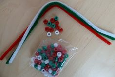 Jennifer's Little World: Christmas toddler busy bag activities - Part 1
