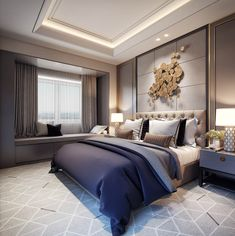 Modern Master Bedroom, Master Bedroom Design, Master Suite, Contemporary Bedroom Furniture, Luxurious Bedrooms, Bedroom Sets, Luxury Homes, Amazing, Home Decor