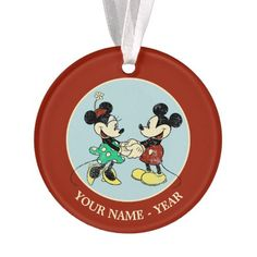 Mickey & Minnie | Vintage Add Your Name Ornament