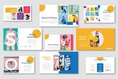 Cute Powerpoint Templates, Creative Powerpoint, Keynote Template, Templates Free, Mise En Page Portfolio, Portfolio Design, Design Presentation, Presentation Templates, Folders