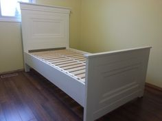 Panel Single Bed | Do It Yourself Home Projects from Ana White
