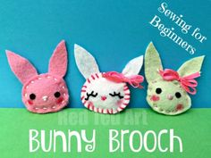 Bunny Brooches - ado