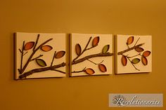 Amazing what you can do with TP & Paper Towel Rolls, a canvas, paint and an imagination....