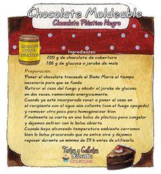 Tartas, Galletas Decoradas y Cupcakes: Recetas Pasta Modelar Chocolate Rocks, Chocolate World, Modeling Chocolate, Chocolate Fudge, Chocolate Desserts, Fondant Cupcake Toppers, Cupcake Cakes, Pastry Recipes, Dessert Recipes