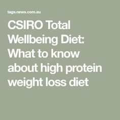 The CSIRO Total Wellbeing Diet is claimed to be the proven long-term solution to long-term weight loss. Here's what you need to know about the diet, plus a day's sample meal plan. Csiro Total Wellbeing Diet, High Protein, Need To Know, Meal Planning, Weight Loss, Meals, How To Plan, Cooking, Food