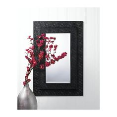 """MOROCCAN STYLE WALL MIRROR Looking good is easy with this gorgeous rectangular wall mirror. The two-tiered iron frame features a Moroccan-inspired design and the inset mirror features beveled edges. Reflective mirror: 15 3/4"""" x 7 3/4"""";  Materials: IRON MIRROR"""