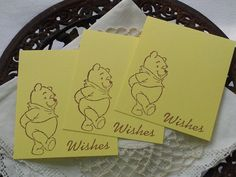 Baby Shower Wish Cards Winnie the Pooh Set of 25 by LazyDayCottage, $14.95