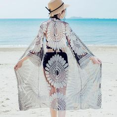 Dress Outfits, Casual Outfits, Dresses, Beach Kimono, Beach Shirts, Bikini Cover Up, Bikini Beach, Different Fabrics, Picture Show