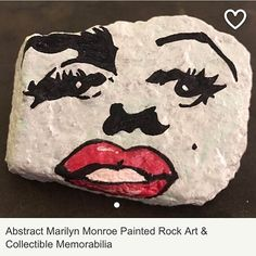 https://www.etsy.com/listing/509775098/abstract-marilyn-monroe-painted-rock-art?ref=shop_home_active_7.  #moonrocksart #paintedrocks #art #stones #moonrocks #marilynmonroe #normajean #marilynmonroeart #marilynmonroepainting #abstractart #etsy #etsyseller