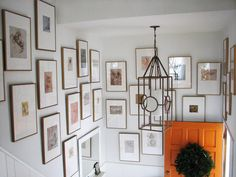 Love the sketches in same size frames with different sized matting Pure Style Home: Before and Afters