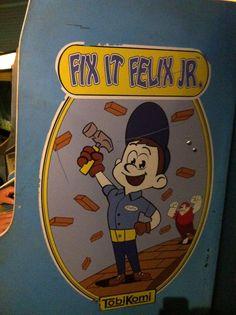 Fix It Felix, Jr - Actual video game! Disney Art, Disney Pixar, Fix It Felix Jr, History Of Video Games, Nerd Room, Wreck It Ralph, Arcade, Hero, Animation