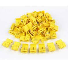 50PCS Yellow Quick Splice Crimp Terminals Insulated 12-10AWG Scotch Lock Wire Electrical Connectors 2.5-4.0mm2