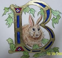 "Painted by fellow pinner, Gary B. Sokol. illuminated letter, ""B"" is for Boyce"