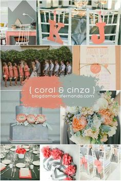 New Wedding Colors Coral Grey Inspiration Boards 69 Ideas Wedding Table Settings, Wedding Reception Decorations, Wedding Centerpieces, Trendy Wedding, Diy Wedding, Rustic Wedding, White Wedding Bouquets, Wedding Dresses, Rustic Invitations