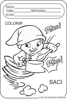 Atividades colorir personagens de Monteiro Lobato para a semana do livro infantil