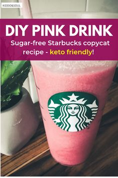 You'll love this easy DIY Starbucks pink drink recipe Sugar Free Starbucks Drinks, Starbucks Pink Drink Recipe, Pink Drink Recipes, Starbucks Tea, Drink Recipes Nonalcoholic, Sugar Free Drinks, Starbucks Recipes, Pink Drinks, Passion Tea Recipe