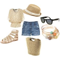 Super cute and easy outfit for a vacation or a summer shopping trip!