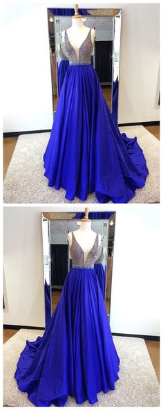 Royal Blue Beading Prom Dress,Long Prom Dresses,Prom Dresses,Evening Dress, Evening Dresses,Prom Gowns, Formal Women Dress P0597 #promdresses #longpromdress #2018promdresses #fashionpromdresses #charmingpromdresses #2018newstyles #fashions #styles #hiprom #royalblue #simple