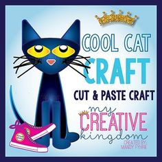 Use this Cool Cat Craft as a great accompaniment to Read Across America, Back to School, Pete the Cat and his Cool School Shoes, or as an Animal Unit. This is a cut and paste (glue) activity.