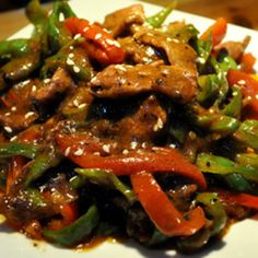 Oriental Beef with Peppers